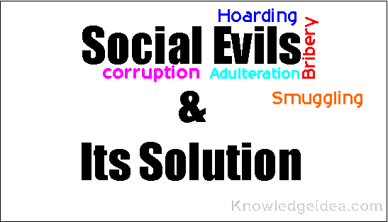Eradication of social evils essay