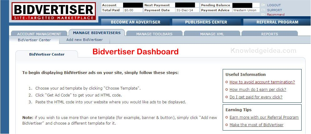 How to Apply to Bidvertiser step 4