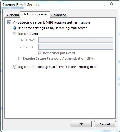 Configure Outlook for webmail step 3