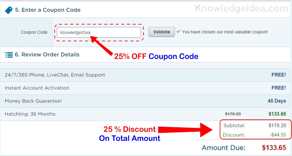 Hostgator Coupon Code redeem
