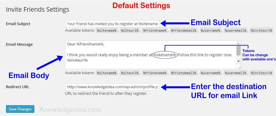 How to invite Friends on WordPress Blog