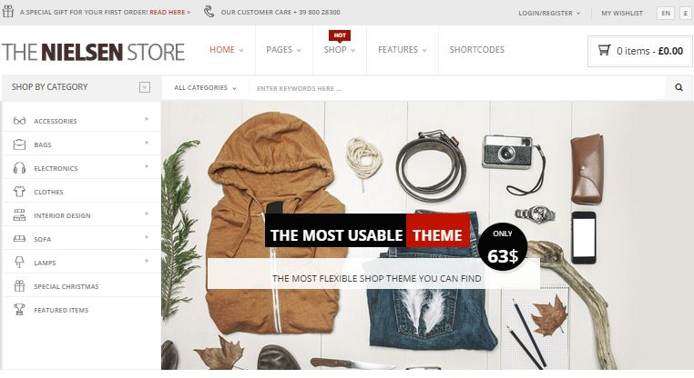 Nielsen WordPress eCommerce Themes