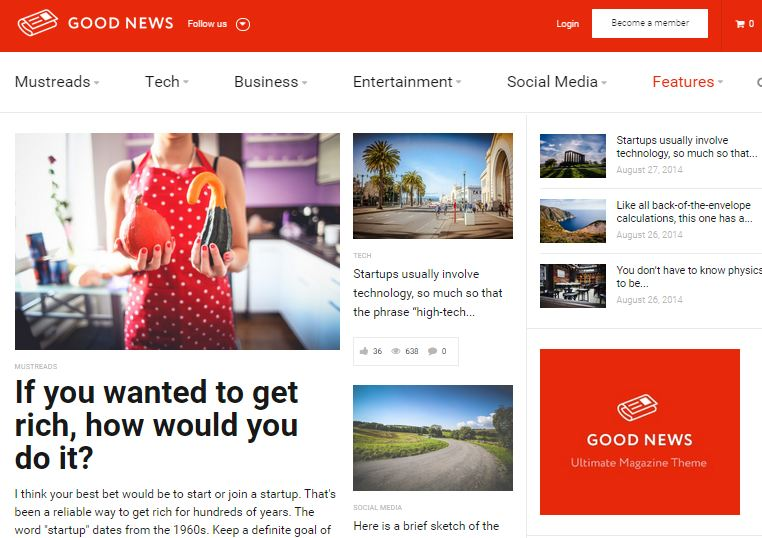Good News WordPress Magazine themes