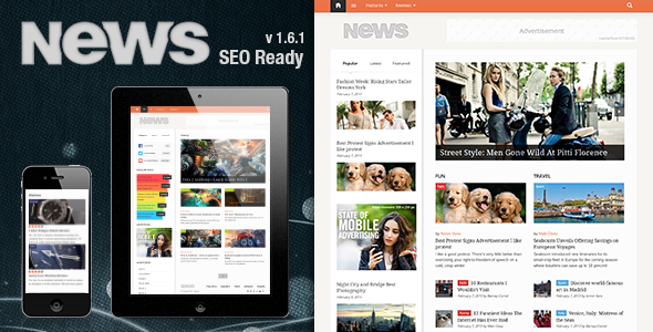 News WordPress Magazine themes