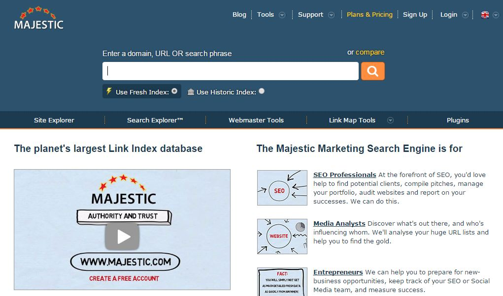 Majestic have some fascinating resources offers for pro users ...