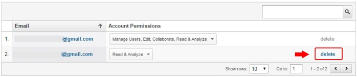 How to Add, Modify and Delete User in Google Analytics step 4