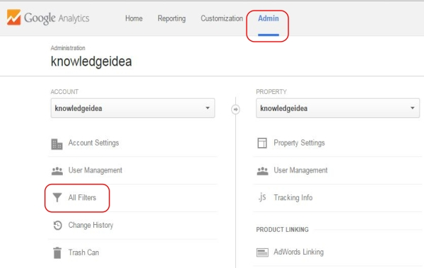 How to Block Google Analytics Spam Refers step 1
