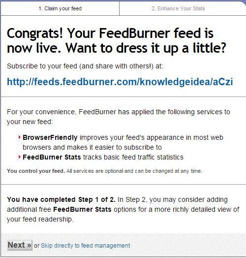 How to Setup FeedBurner For WordPress Step 3