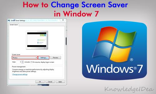 how to change window 7 screen saver   knowledgeidea