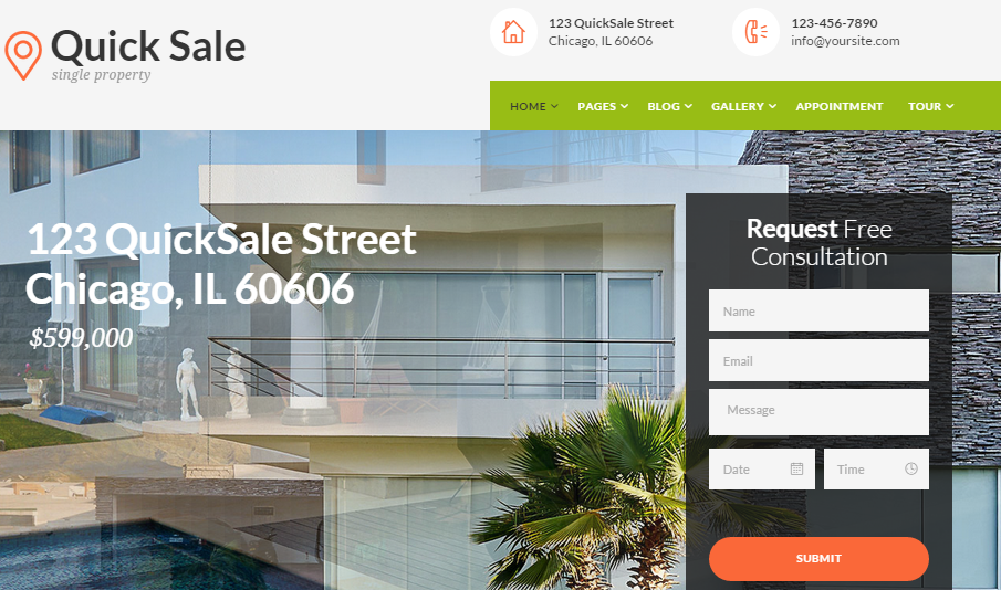 Quick Sale - Real Estate WordPress Theme