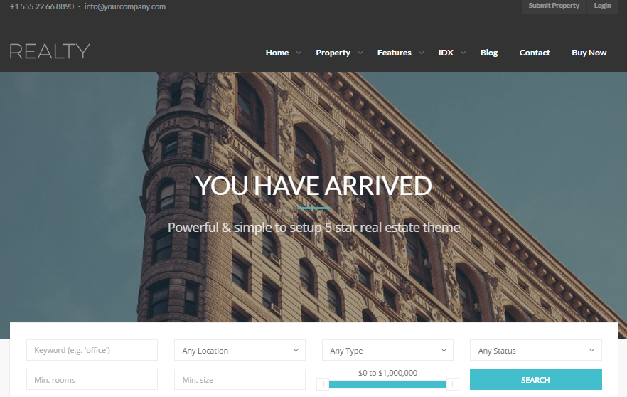 Realty Real Estate WordPress Themes