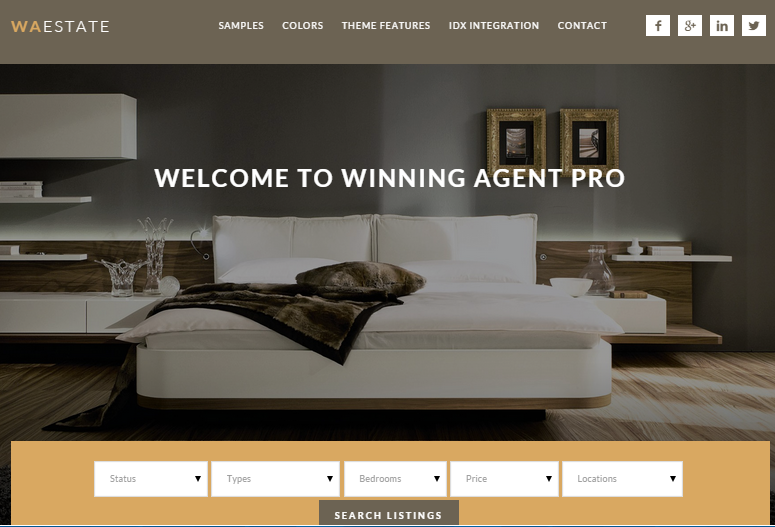 Winning Agent Real Estate WordPress Themes