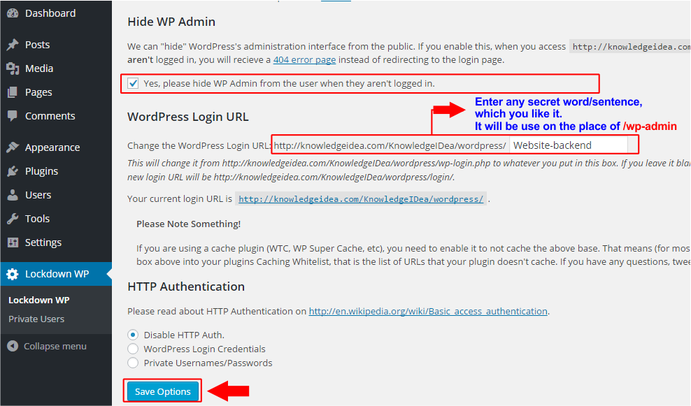 How to Change WordPress Admin Login URL step 2