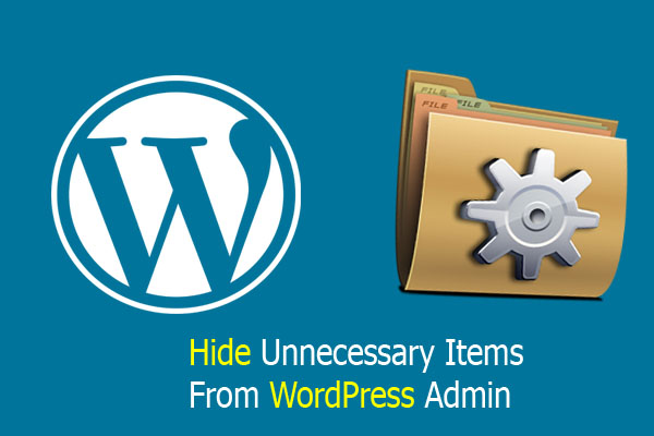 How to Hide Unnecessary Items From WordPress Admin Area
