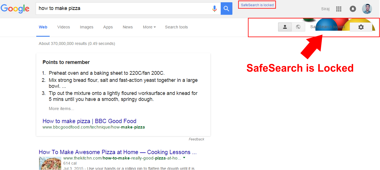 How to Turn On Safe Browsing in Google Chrome safesearch locked