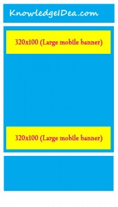 High Paying Adsense Ad Sizes Large mobile banner