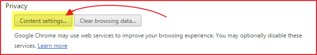 How to Enable Cookies in Chrome Browser step 3