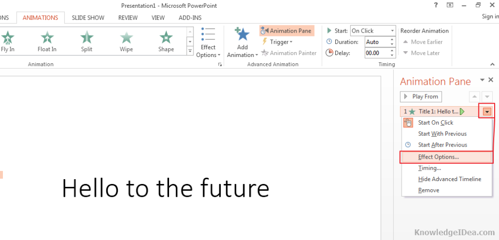 Keyboard Typing Effect on Text in PowerPoint Step 3