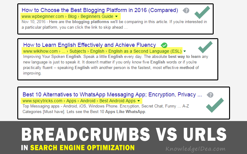 Breadcrumbs Vs URLS In SEO