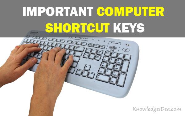 40 Important Computer Shortcut Keys