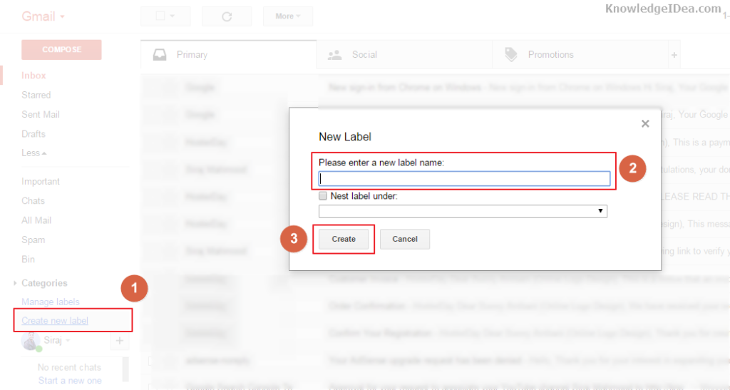 How to Move Email Any Specific Gmail Folder Automatically Step 1