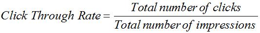 CTR Calculate Formula