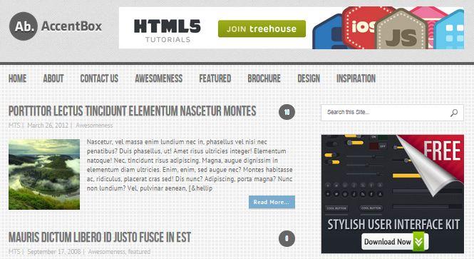 AccentBox Free WordPress Theme