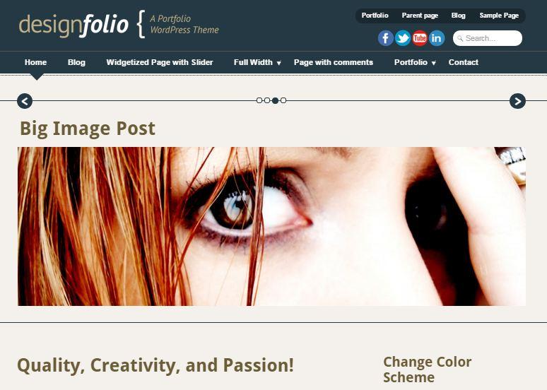 Designfolio Free WordPress Theme