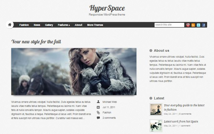 HyperSpace Free WordPress Theme