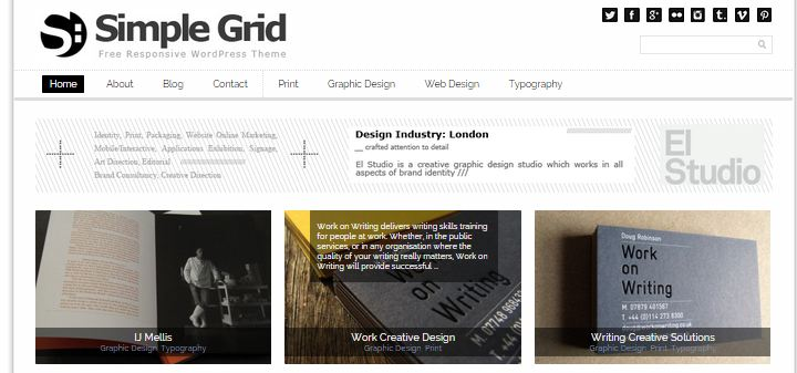 Simple Grid Free WordPress Theme