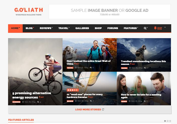 GOLIATH Premium WordPress Themes