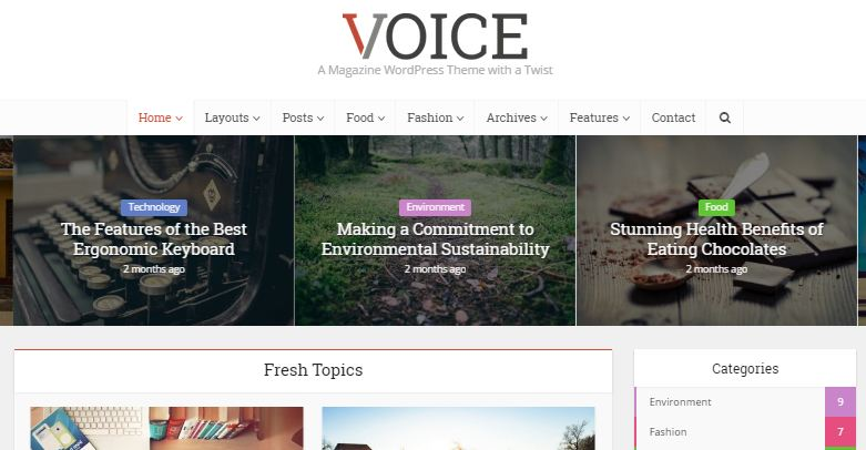 Voice Premium WordPress Themes