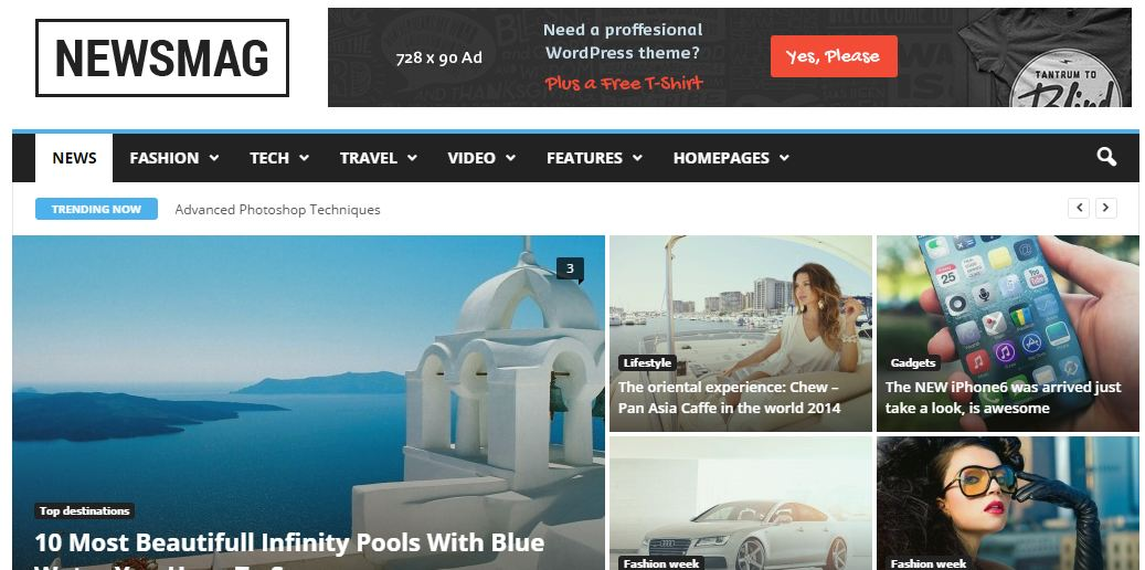 Newsmag WordPress Magazine themes
