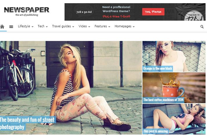 Newspaper WordPress Magazine themes
