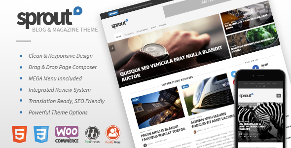 Sprout WordPress Magazine theme