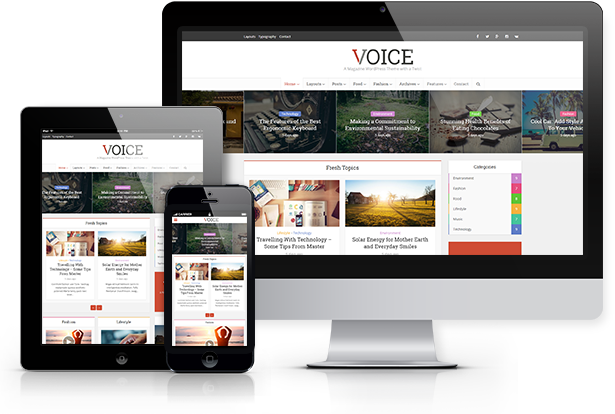 Voice WordPress Magazine themes