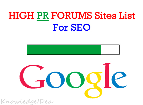70+ High PR Forum Sites List 2015 For Seo