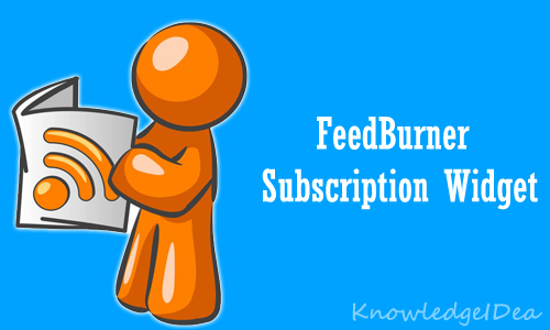 How to Add FeedBurner Subscription Box On Website