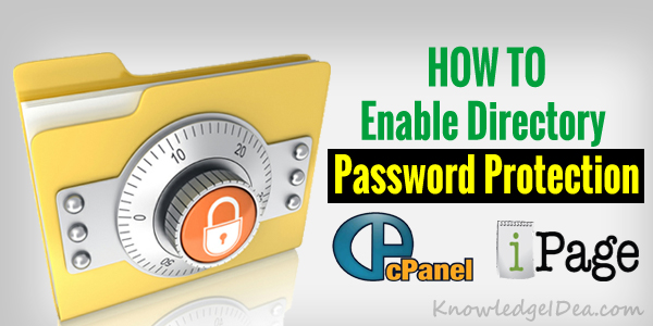 How to Enable Directory Password Protection in iPage