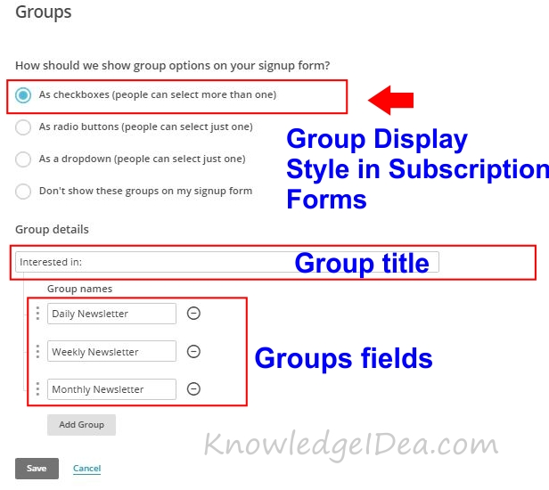 How To Create Groups in MailChimp step 4