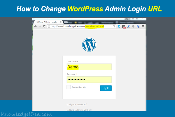 How to Change WordPress Admin Login URL