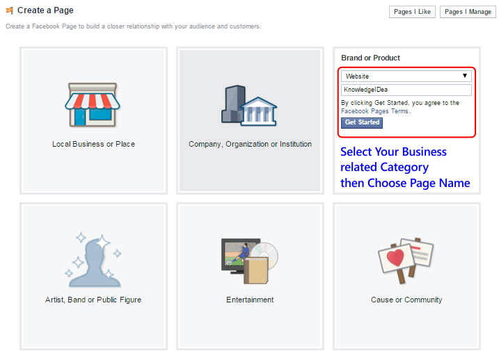 How to Create Facebook Page For Business step 3