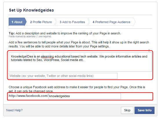 How to Create Facebook Page For Business step 4