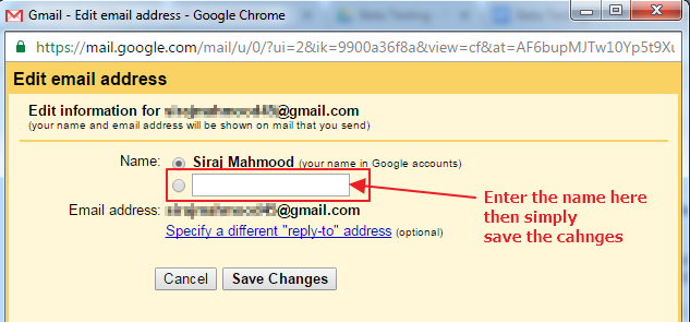 How To Change Gmail Account Username Step 3