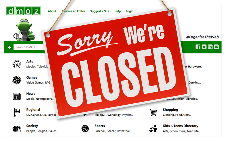 Dmoz Finally Closed Today